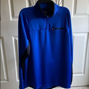FILA Long Sleeve Running Jacket, Blue/Black XL